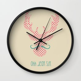 Ohh Dear Sir Wall Clock
