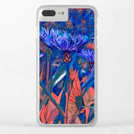 Floral abstract (13) Clear iPhone Case
