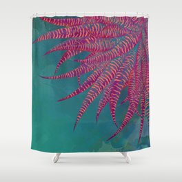 Agave psychedelic colors Shower Curtain