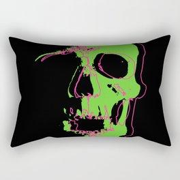 Skull - Neon Rectangular Pillow