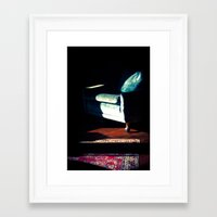 sofa Framed Art Prints featuring sofa by Shannon Sadler
