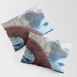 Rusty Wheel Photography Print Pillow Sham