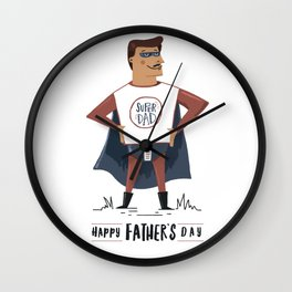Super Dad - Father's Day Wall Clock