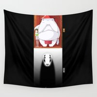 spirited away Wall Tapestries featuring Spirited Away by Leamartes