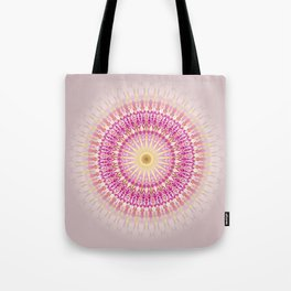 Pink Gold Mandala Tote Bag