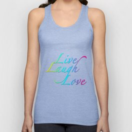 Live, Laugh, Love Unisex Tank Top
