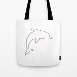 Rainbow dolphin #society6 #decor #buyart #artprint Tote Bag