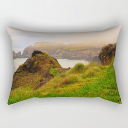 Coastal landscape in Azores Rectangular Pillow