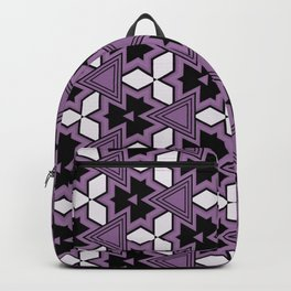 Decorative Bold Purple Geo Pattern Design Backpack
