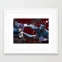mike tyson Framed Art Prints featuring Tyson  by SABIRO DESIGN