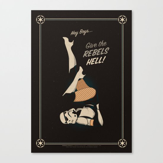 Imperial Pin-up Canvas Print