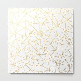 Ab Outline White Gold Metal Print