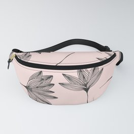 Pink Retro Floral Pattern - Mix and Match with Simplicity of Life Fanny Pack