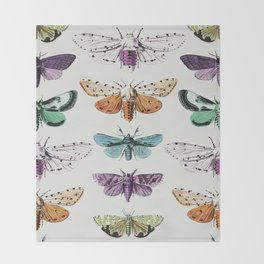 Techno-Moth Collection Throw Blanket