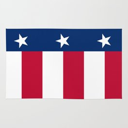 State flag of Texas, banner version Rug