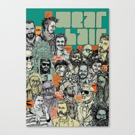 Beard Party Canvas Print