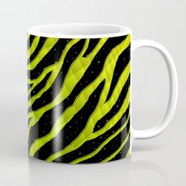 Ripped SpaceTime Stripes - Yellow/Lime Coffee Mug