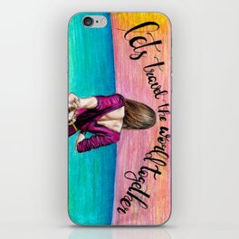 Lets Travel the World Together iPhone Skin