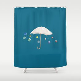 The Umbrella Books Shower Curtain