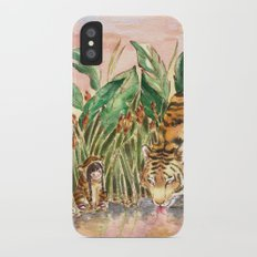 Thirsty Tigers iPhone X Slim Case