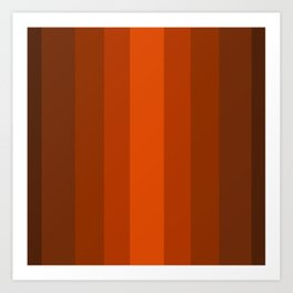 Sienna Spiced Orange 2 - Color Therapy Art Print