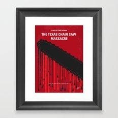 No410 My The Texas Chain Saw Massacre minimal movie poster Framed Art Print