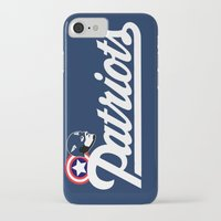 patriots iPhone & iPod Cases featuring American Patriots by SuperEdu