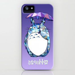Kawaii Purple Ghibli iPhone Case