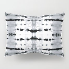 BW Satin Shibori Pillow Sham