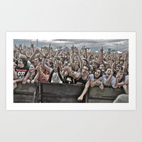 it crowd Art Prints featuring Crowd by Kyle Robish