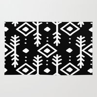 nordic Area & Throw Rugs featuring BLACK NORDIC by Nika