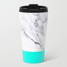 Marble Blue Luxury iPhone Case and Throw Pillow Design Travel Mug