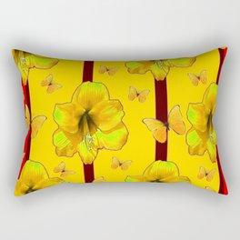 """""""FOR THE LOVE OF BUTTERFLIES"""" RED-YELLOW ART Rectangular Pillow"""