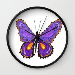 Sahasrara Butterfly 1 Wall Clock