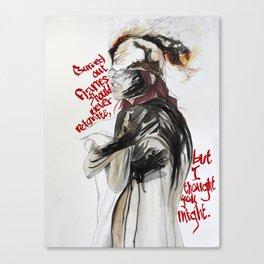 Burning Like A Bridge Through Your Body Canvas Print