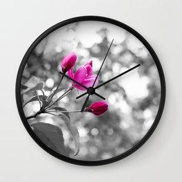Pink Buddies Wall Clock