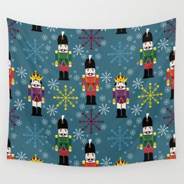 Snowy Royal Nutcrackers Wall Tapestry