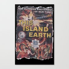 This Island Earth: Pulped Fiction Edition Canvas Print
