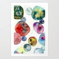 Colorful watercolor abstract phone cover Art Print
