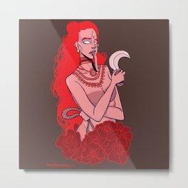 Red Kali Metal Print