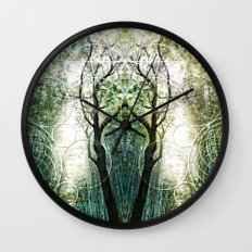 Bamboo Forest Geometry Wall Clock