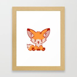 """I Just Really Like Foxes Ok?"" Unique Illustration Of A Fox For Animal Lovers T-shirt Lobo Hyena Framed Art Print"