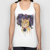 space cat Tank Tops featuring Space Cat by scoobtoobins