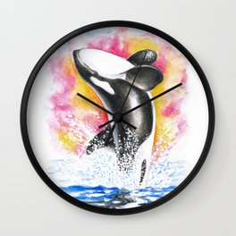 Luna The Whale Wall Clock