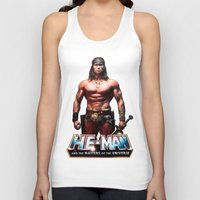 he man Tank Tops featuring He-Man by MartiniWithATwist