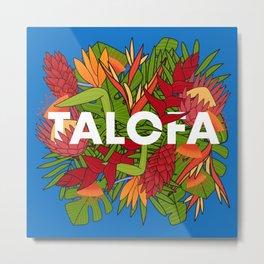 UrbanNesian Talofa Floral Design Metal Print