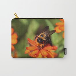 Bumblebee On Zinnia Carry-All Pouch