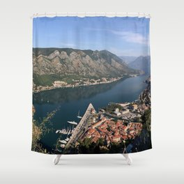 Kotor bay Shower Curtain