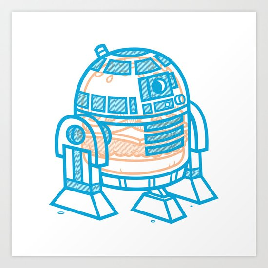Cheeseburger R2-D2 Art Print