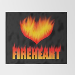 Fireheart Throw Blanket